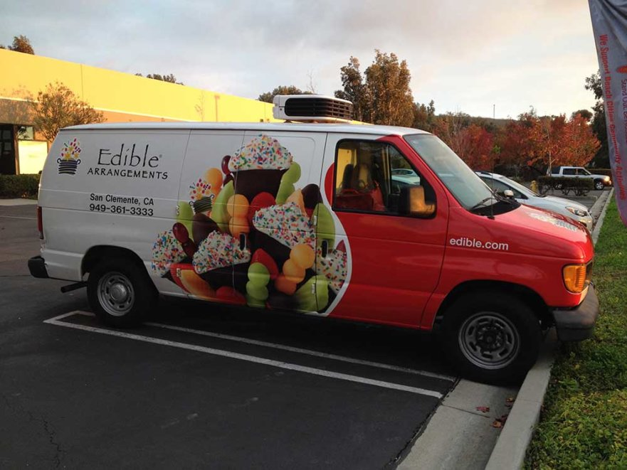 Edible arrangements - vehicle graphics from starfish signs & graphics