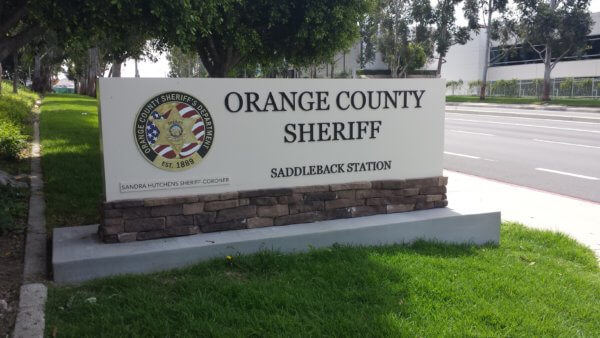 OCSD - Monument sign from starfish signs & grpahics