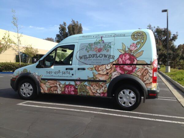 Wildflower Vehicle Graphic from starfish signs & grpahics in orange county