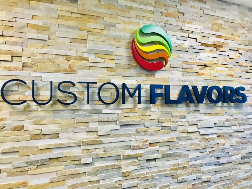 Custom flavors Lobby Signs from Starfish signs & graphics in orange county