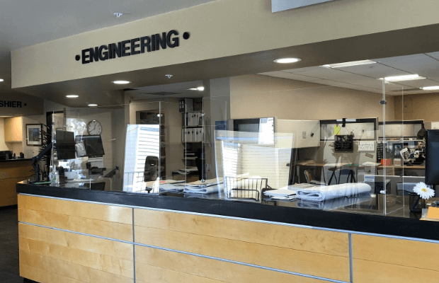 Engineering Lobby Sign from Starfish Signs & Graphics